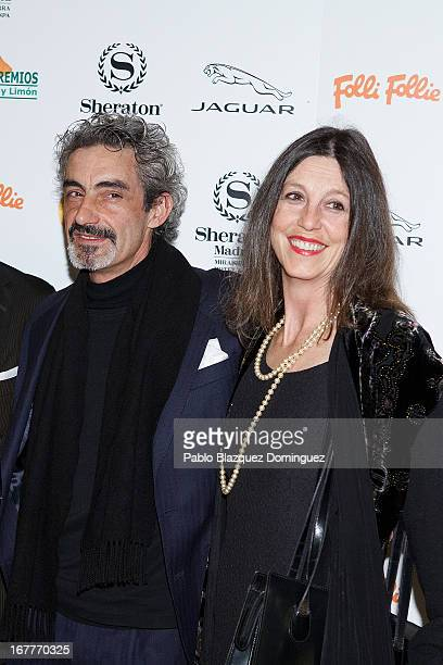 Micky Molina and Sandra Blakstad attend 'Orange And Lemon' Awards ceremony at Sheraton Mirasierra Hotel on April 29 2013 in Madrid Spain