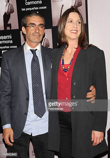 Micky Molina and Sandra Blakstad attend the Josemi Carmona concert at the HaagenDazs Theatre on May 30 2011 in Madrid Spain