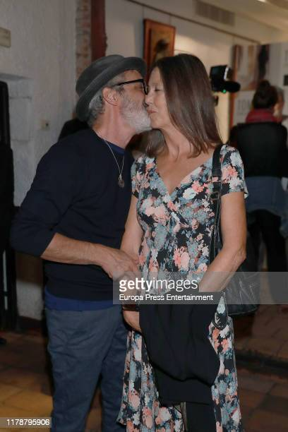 Micky Molina and Sandra Blakstad attends the presentation of 'El concierto de Aranjuez' on October 03 2019 in Madrid Spain