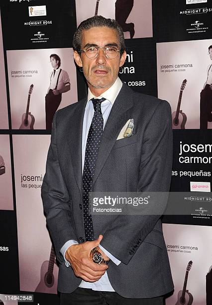 Micky Molina attends the Josemi Carmona concert at the HaagenDazs Theatre on May 30 2011 in Madrid Spain