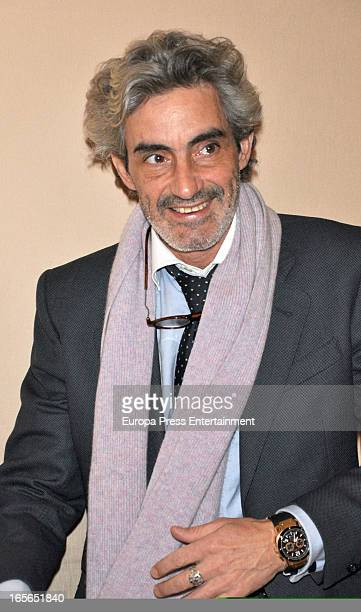 Micky Molina attends the presentation of an homage to the singer Antonio Molina at Coliseum Theatre on April 2 2013 in Madrid Spain