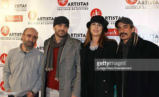 Micky Molina attends the public relations Richie Castellanos's party to enjoy his best friends at AIE headquarters on February 13 2012 in Madrid Spain