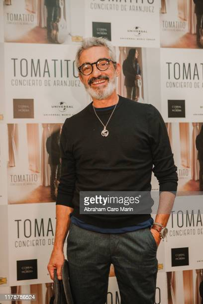 Micky Molina poses for photographers during the presentation of the new album of Tomatito at Corral de la Moreria on October 03 2019 in Madrid Spain