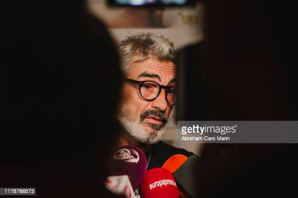 Micky Molina talk to the media during the presentation of the new album of Tomatito at Corral de la Moreria on October 03 2019 in Madrid Spain