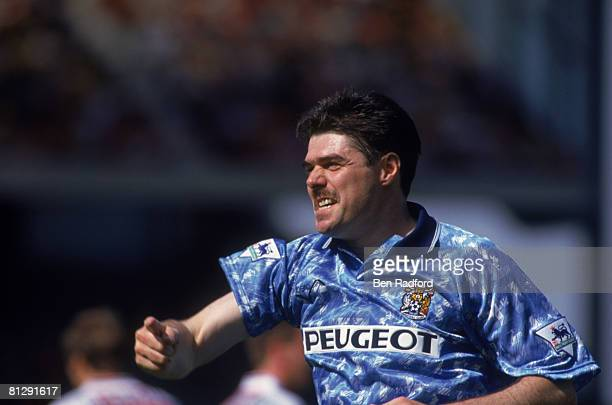 Micky Quinn of Coventry City hits an opening day hat trick during the FA Carling Premiership match against Arsenal, circa 1993. Coventry won 0-3.