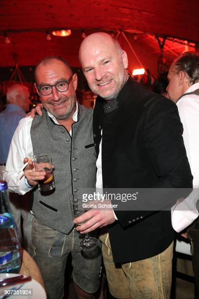 Micky Rosen Owner of Gekko Group/Roomers and Christian Gries CEO of Depot Gries Deco Company GmbH during the 27th Weisswurstparty at Hotel Stanglwirt...