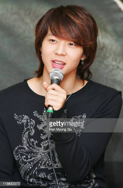 Micky YooChun of DongBangSinki during DongBangSinki on Location for 'Loving On Earth' at Gwangju Church in Gwangju City Gwangju South Korea