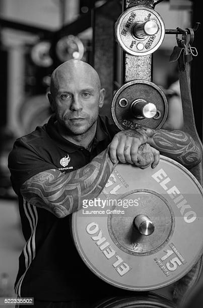 Micky Yule of Paralympics GB Powerlifting Team poses for a portrait during the Paralympic Team Announcement at Loughborough University on April 18...