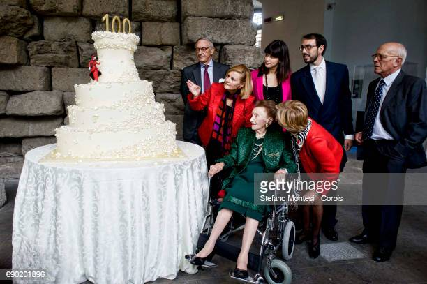 Micol Fontana with family during the birthday celebration for his 100 years old the last of the three sisters Fontana of the historic fashion house...