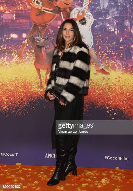 Micol Olivieri attends a photocall for 'Coco' on December 18 2017 in Milan Italy