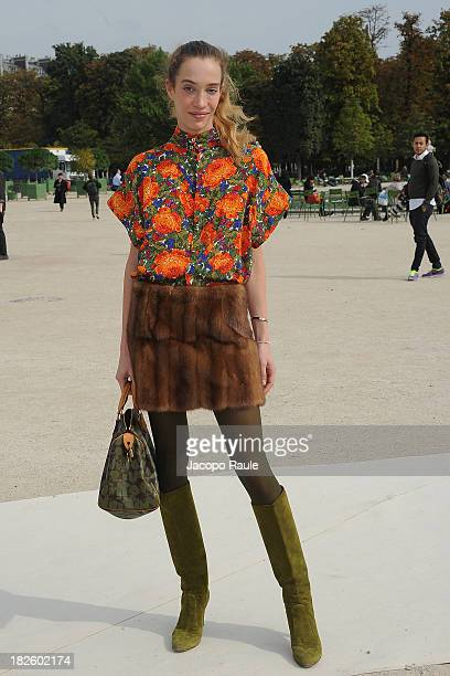 Micol Sabbadini arrives at Valentino Fashion Show during Paris Fashion Week Womenswear SS14 Day 8 on October 1 2013 in Paris France