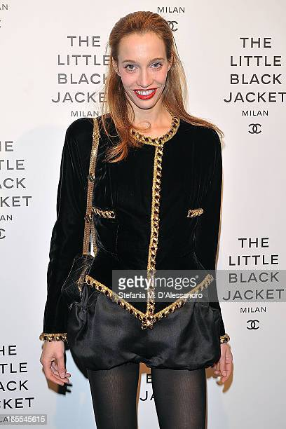 Micol Sabbadini attends Chanel The Little Black Jacket Karl Lagerfeld Photography Exhibition Dinner Party on April 4 2013 in Milan Italy