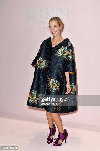 Micol Sabbadini attends the Fendi show during Milan Fashion Week Spring/Summer 2019 on September 20 2018 in Milan Italy
