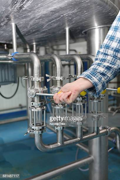 Micro brewery boiling tank taps for making beer