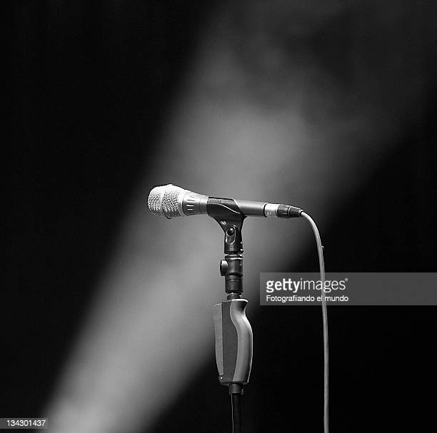 micro - microphone stand stock photos and pictures
