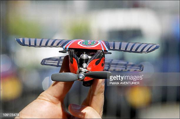 Micro Unmanned Aerial Vehicle The World'S Smallest Drone At 44Th Paris Air Show On June 20Th, 2001 In Le Bourget, France.