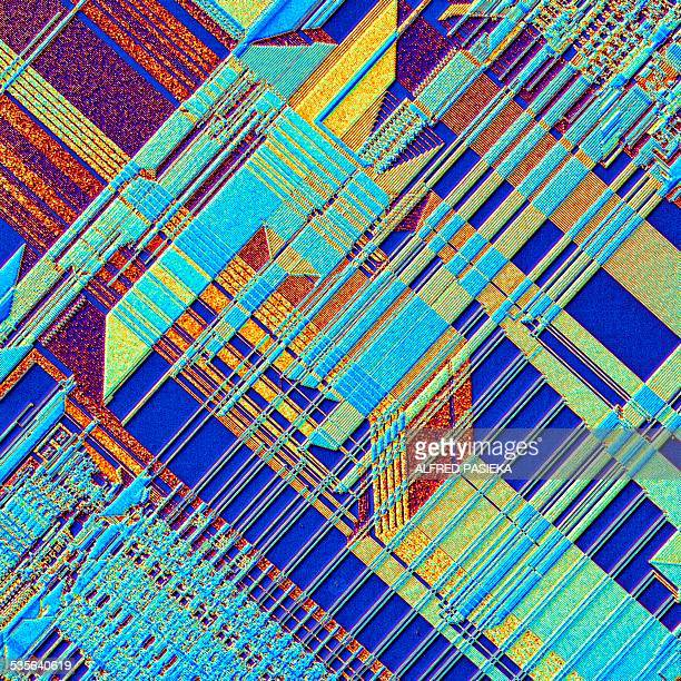 microchip, light micrograph - electron micrograph stock pictures, royalty-free photos & images