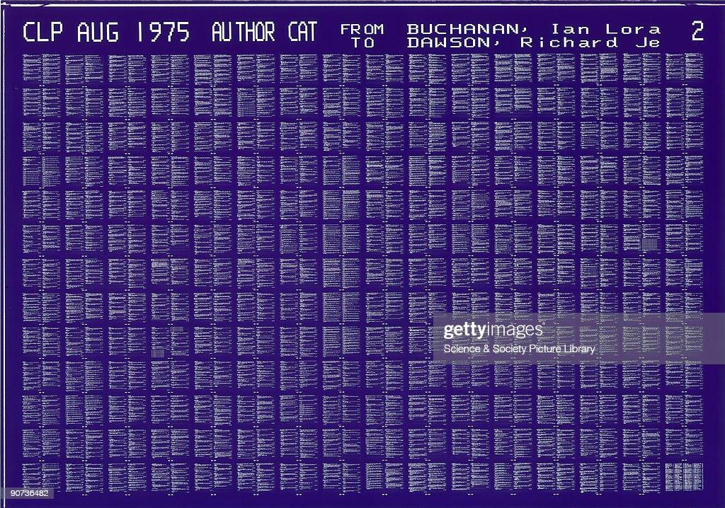 Microfiche, 1975. : News Photo