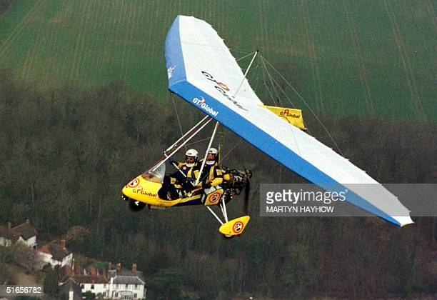 Microlight pilots Keith Reynolds and Brian Milton in their GT Global Flyer craft 2220 February which they intend to set off in March to fly around...