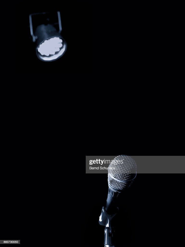 Microphone and Spotlight : Stock Photo