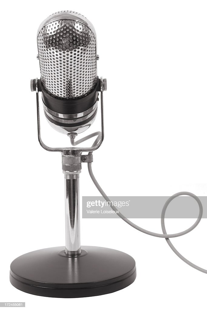 Microphone and stand : Stock Photo