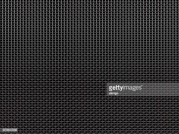 microphone grille - grid pattern stock pictures, royalty-free photos & images