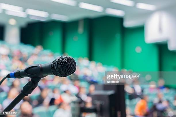 microphone in front of people - entertainment event stock pictures, royalty-free photos & images