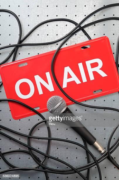 Microphone, on air