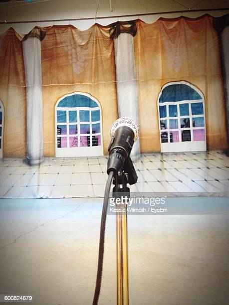 Microphone On Stage In Theater