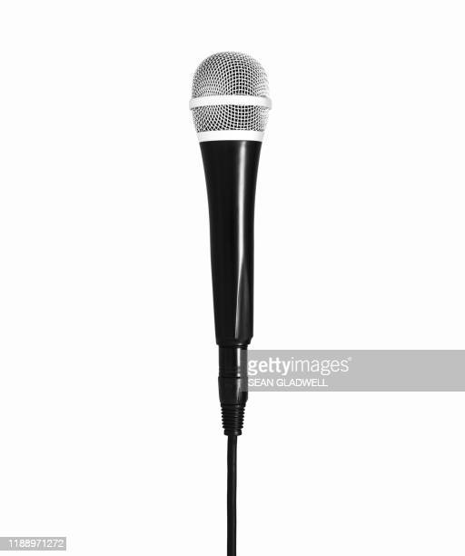 microphone on white - micro photos et images de collection
