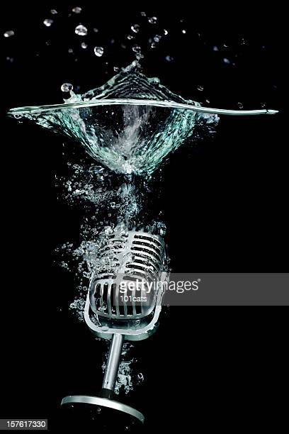 microphone - drop the mic stock pictures, royalty-free photos & images