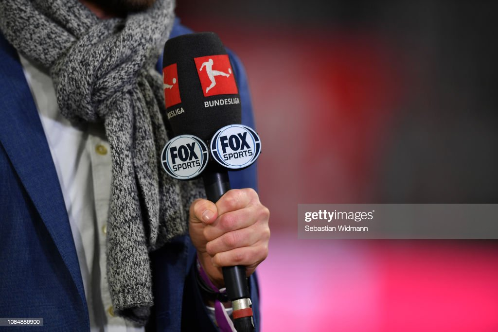 A Microphone With The Logos Of The Bundesliga And Fox Sports Is Seen News Photo Getty Images