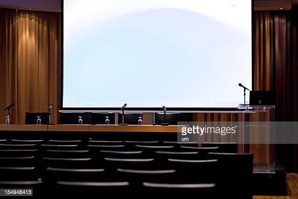 Microphones in Empty Lecture Room