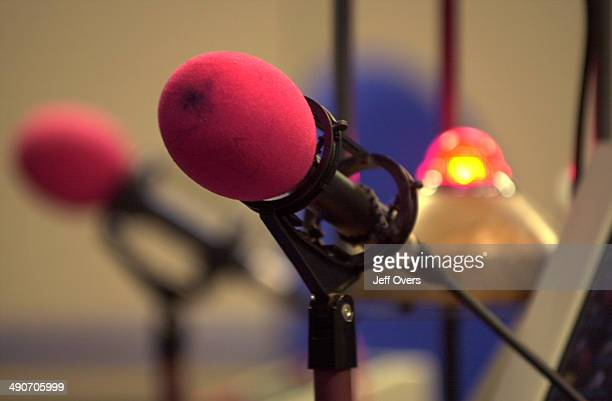 microphones in the The World At One studio