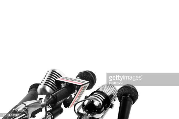 Mikrofone mit ESPN Mikrofon Flagge