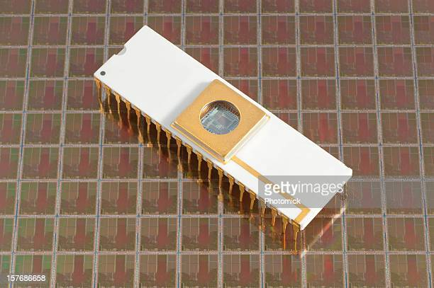Un microprocesseur silicon Gaufrette