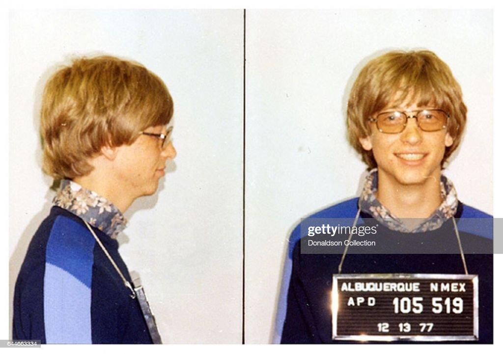 Bill Gates Mugshot : News Photo