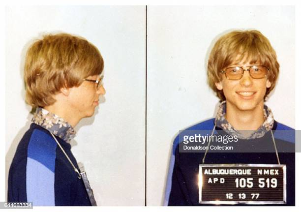 Microsoft boss Bill Gates mugshot from December 13 1977