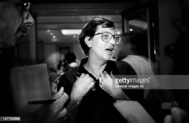 Microsoft CEO Bill Gates in photographed at the Agenda '92 Conference in Laguna Niguel California SELECTED FOR 2012 VISA POUR L'IMAGE EXHIBIT IN...