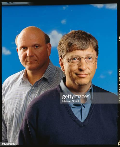 Microsoft CEO Steve Ballmer and Bill Gates