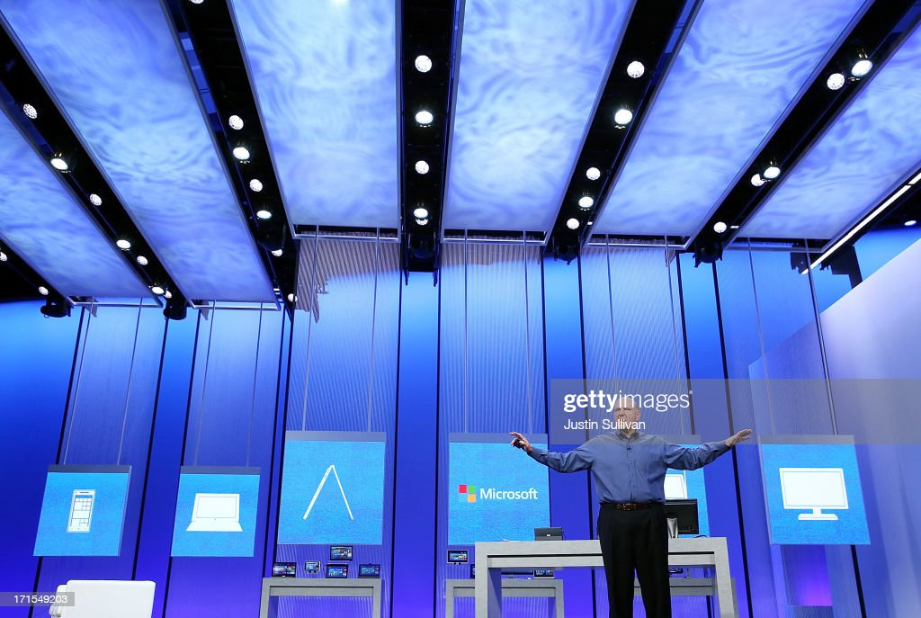 Microsoft Debuts Upgrade To Windows 8 Operating System : News Photo