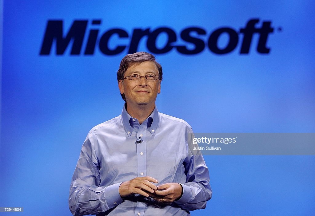 Microsoft chairman Bill Gates delivers a keynote address at the 40th annual Consumer Electronics Show (CES) convention January 7, 2007 in Las Vegas, Nevada. CES will run January 8-11 and is expected to draw approximately 150,000 attendees with over 1.6 million square feet of convention floor space.
