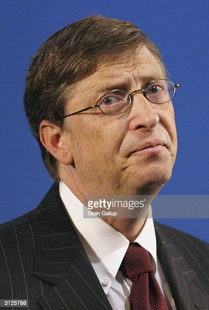 Microsoft Chairman Bill Gates speaks at the Microsoft Security Summit Prague 2004 January 27 2004 in Prague Czech Republic EU regulators ruled March...