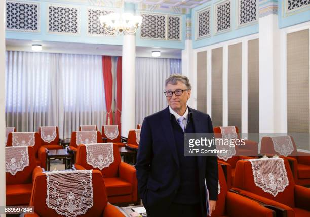 Microsoft cofounder and philanthropist Bill Gates attends a meeting with Chinese Premier Li Keqiang at the Zhongnanhai government compound in Beijing...