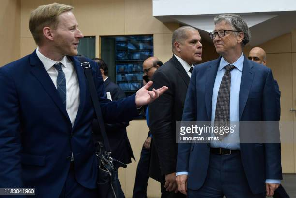 Microsoft cofounder and philanthropist Bill Gates during a lifetime achievement award ceremony for outstanding contribution in healthcare at Indian...