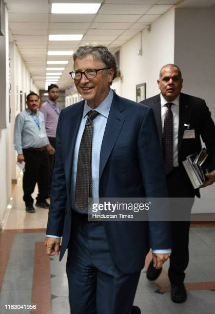 Microsoft cofounder and philanthropist Bill Gates leaves after attending and distributing lifetime achievement award for outstanding contribution in...
