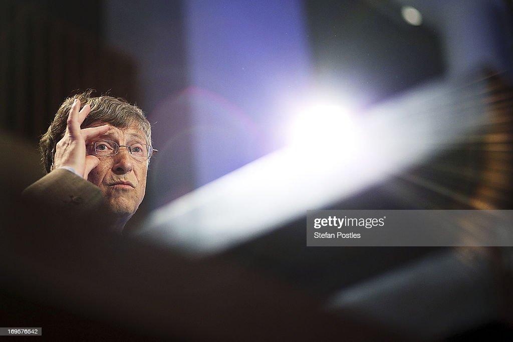 Bill Gates Lobbies Australia For Increased Overseas Aid Funding : News Photo