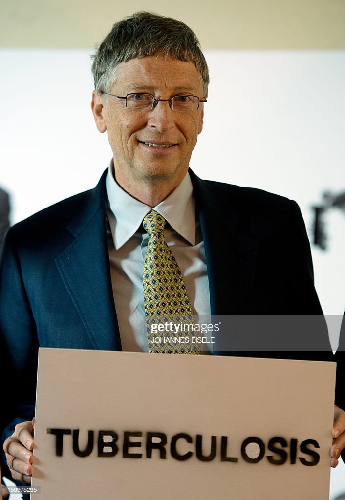 Microsoft co-founder turned global philanthropist Bill Gates poses during a photocall to promote the Global Fund against HIV/Aids, Tuberculosis and Malaria campaign during the 2013 World Economic Forum Annual Meeting on January 24, 2013 at the Swiss resort of Davos. The World Economic Forum (WEF) is taking place from January 23 to 27.