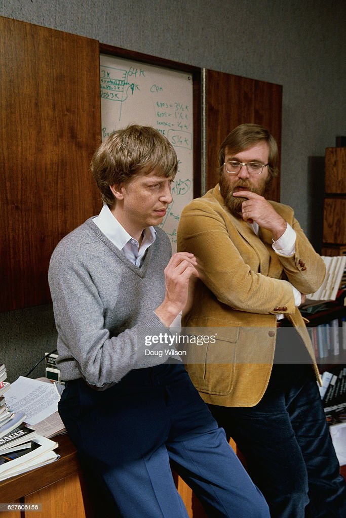Microsoft Co-founders Bill Gates and Paul Allen : News Photo
