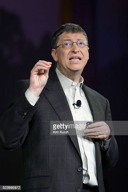 Microsoft Corp Chairman and Chief Software Architect Bill Gates delivers a keynote speech at the RSA Conference on information security in San...